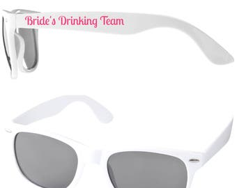 BRIDE'S DRINKING TEAM Hen Party Sunglasses Favours