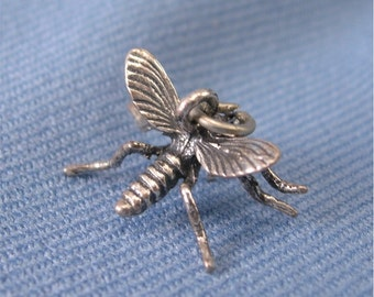 Silver Mosquito Charm