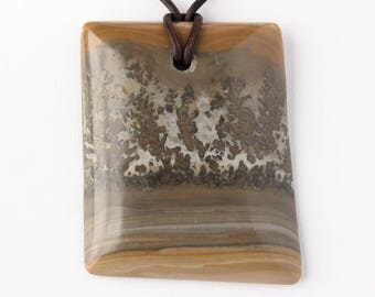 Natural Cotham Marble Stromatolite Freeform Cabochon Pendant