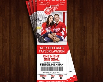 Detroit Red Wings Save the Date Ticket