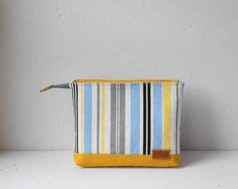 W-pockets pouch(Blue Stripe)