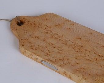 Cheese Board, Charcuterie Board,  Hand Crafted Birdseye Maple, Wonderful Wedding Gift!  Item # 2134