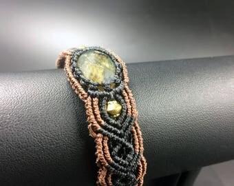Bracelet macrame Labradorite