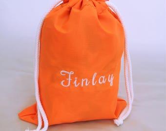 Personalised Wet Bag, Snack Bag, Lunch Pouch, Waterproof Drawstring Bag, Mini Bag, Lunch Bag, School Bag, Snack Pack, Wet and Dry Bag