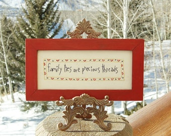 Family Quote Embroidery Sampler