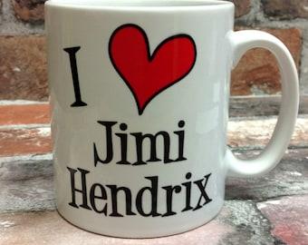 New I love Jimi Hendrix mug gift 11oz cup present