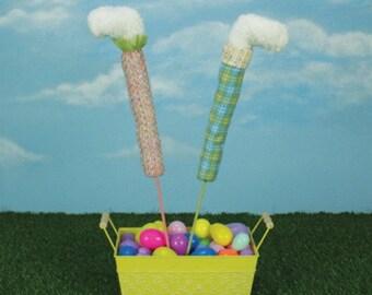 Sale!!! Blue or Pink Bunny Leg Picks / Set of 2/Wreath Supplies/Easter Decor/Bunny Legs/76619