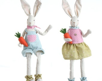 "Sale!!! RAZ IMPORTS 18.5"" Sitting Bunny's-Set of 2/Wreath Supplies/Easter Decor/Easter Bunny/E3503424"