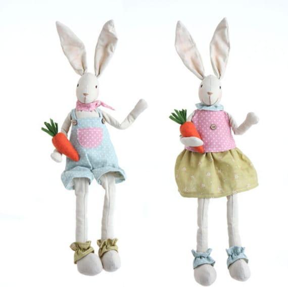 "Raz 18 Colorful Bunny Easter Pillow: Items Similar To Sale!!! RAZ IMPORTS 18.5"" Sitting Bunny's"
