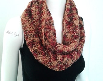 Scarf tube heater-neck scarf neck woman, knitting handmade multicolored, gift idea mother.