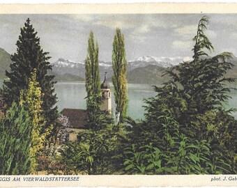 Weggis am Vierwaldstattersee, by  J. Gaberell, Switzerland, Postally Used Vintage Postcard #5485