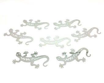 10 prints Gecko platinum silver 50x26mm