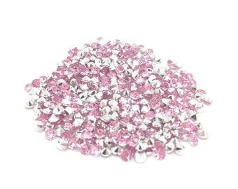520 Rose Pearl 4mm acrylic rhinestones