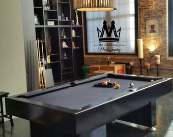 8ft Modern Pool table with Black Lacquer finish,and Grey Felt.(non-slate)