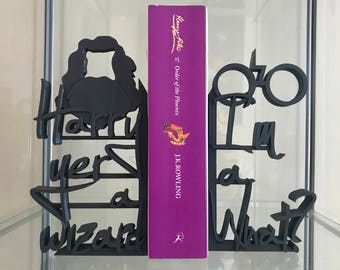 Harry Yer a Wizard! - 3D Printed Decorative Lightweight Bookends