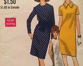 Classic Vintage Shift Dress---Vogue 7366---Size 14  Bust 36
