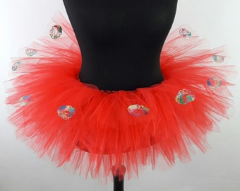Hot Kisses Valentines Multi Layered Tutu - Available in  Teenage, Adult + Plus Sizes