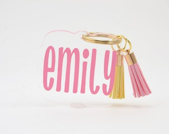 Personalized Tassel Keychain