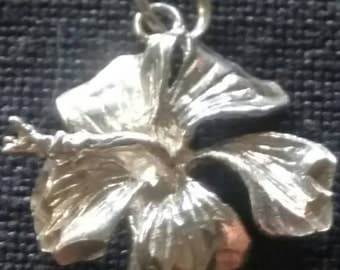 Sterling Flower Pendant