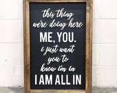 I Am All In | 3D Word Sign | 23 x 33.5 | FREE SHIPPING