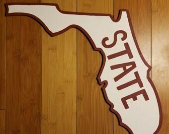 Retro Florida State Wall Hanging