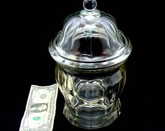 Vintage apothecary jar-old apothecary bottle-large glass apothecary jar-old drug store jar-vintage glass pharmacy jar