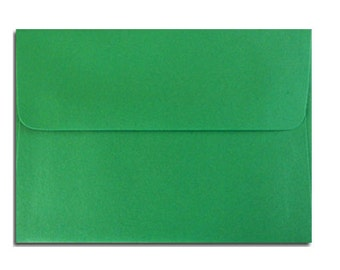 20 Holiday Green Envelopes in A7, A6, A2 & A1 Sizes