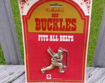 Vintage Royp baseball player belt buckle new