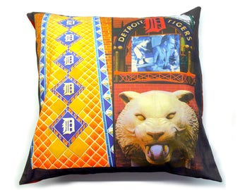 Detroit Tiger Pillow Cover With Insert