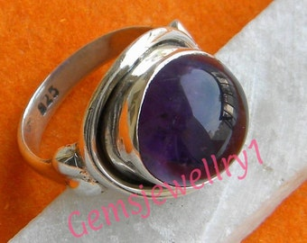 Amethyst Ring, Amethyst Stone Ring, 925 Sterling Silver, Silver ring, Ring US Size 5 6 7 8 9 10 11 12 13 14 -0115100182