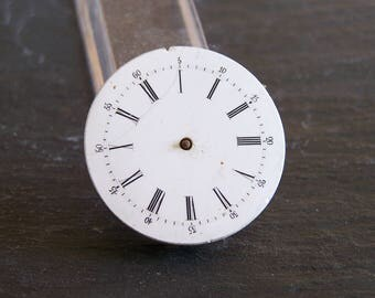 Old pocket watch dial vintage with mechanism