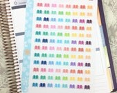Books Die-cut Stickers! 1 punched sheet, for your Erin Condren Life Planner, Plum Planner,  Filoflax, calendar