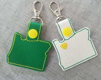 Oregon key chain/key fob/snap tab