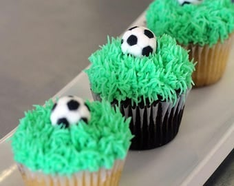 "Edible Soccer Ball Toppers 1""  #24"