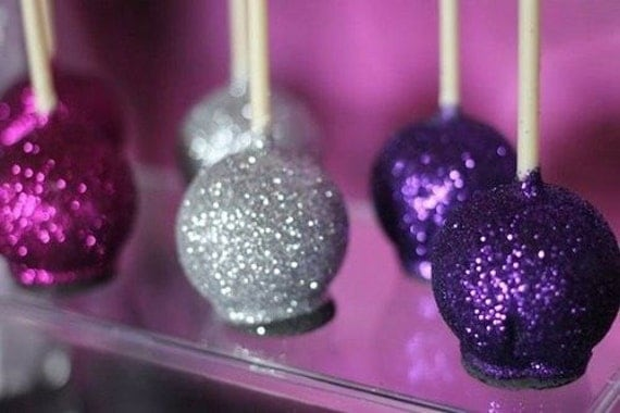 Decorating Cake Pops With Glitter : Silver Disco Glitter 5 grams cake decorating gum paste fondant