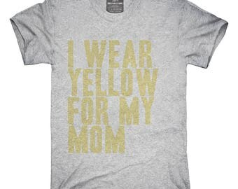 I Wear Yellow For My Mom Awareness Support T-Shirt, Hoodie, Tank Top, Gifts