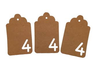 Number Four Gift Tags