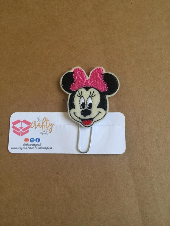 Mouse Inspired Clip/Planner Clip/Bookmark. Girl mouse planner clip