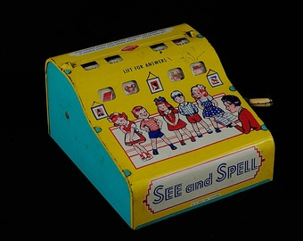Vintage See and Spell Toy