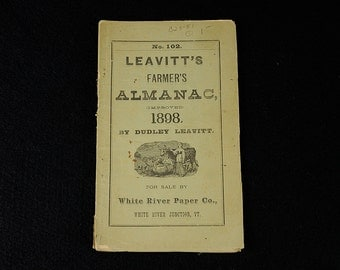 Leavitt's Farmers Almanac - 1898