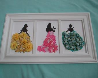 Disney Princess Wall Art Cinderella, Belle, Sleeping Beauty