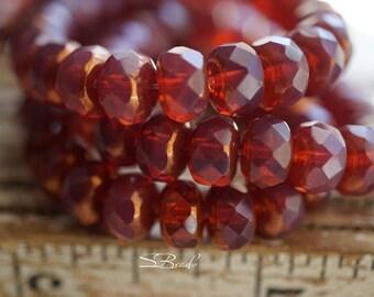 Silky Merlot, Rondelle Beads, Czech Beads, Beads, N2368