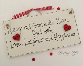 Personalised keepsake gift mum and dad, nan and grandad handmade plaque