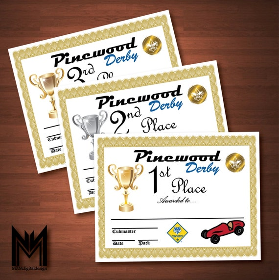 Nerdy image for free printable pinewood derby certificates