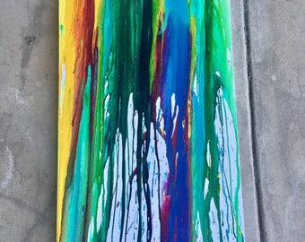ORIGINAL Oil & Acrylic Wall Art 36 x 12