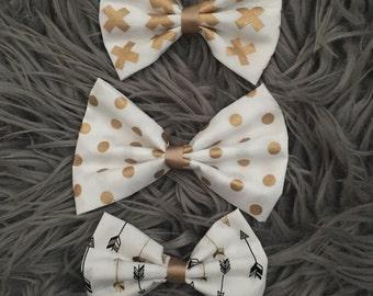 Gold & Glitter + Ex Oh's bow set