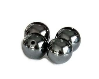 12pcs--Round  Gunmetal Metal Beads, 12mm (B55-19)