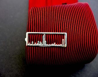 Mass Spectrum Tie Bar-Chemistry Jewelry-Science Jewelry in silver, bronze and brass
