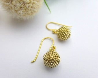 Ragweed Pollen Earrings - Science Jewelry - Botanical Earrings