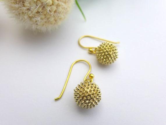 Ragweed Pollen Earrings - Science Jewelry - Botanical Earrings